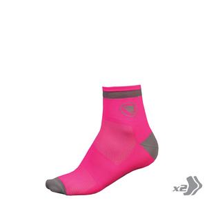 Endura dámské ponožky LUMINITE SOCK hi-viz pink 2x