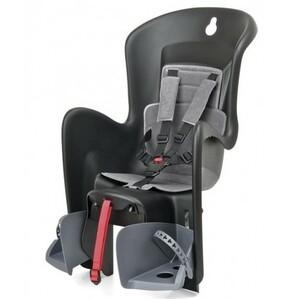 Polisport dětská sedačka BILBY CFS zadní, na nosič, černošedá