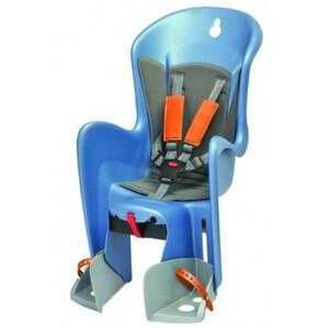Polisport dětská sedačka BILBY CFS zadní, na nosič, modrostříbrná