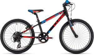Cube dětské kolo KID 200 black flashred blue