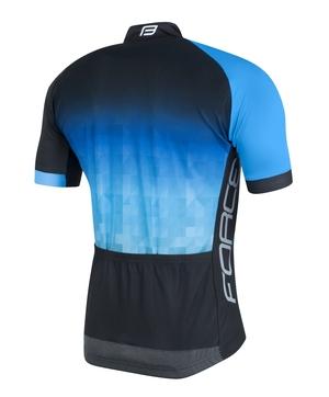 Force dres DAWN krátký rukáv, černo-modrý