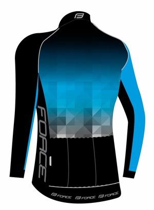 Force dres DAWN WIND dlouhý rukáv, černo-modrý
