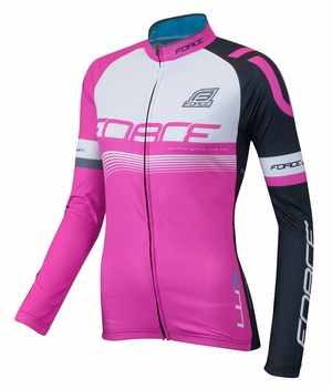 Force dres LUX dámský dlouhý rukáv, růžový