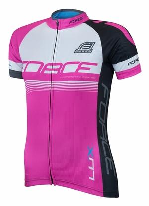 Force dres LUX dámský krátký rukáv, růžový