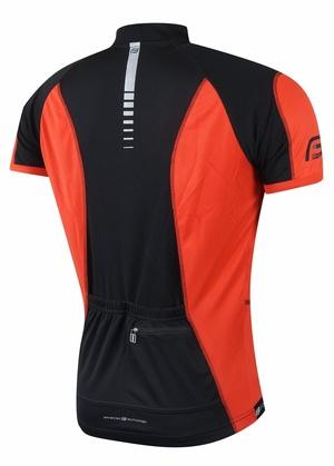 Force dres T12 krátký rukáv, černo-červený