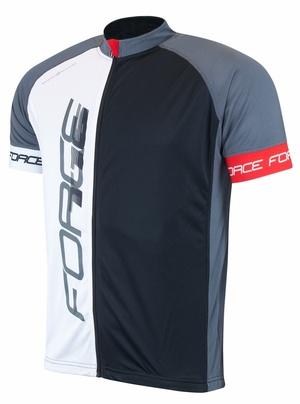 Force dres T16 krátký rukáv, černo-šedo-bílý