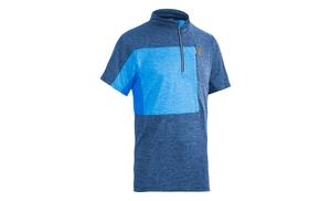 Cube dres TOUR FREE se zipem krátký rukáv blue