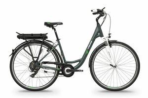 Head elektro kolo E-CITY BAFANG RM šedá matná / zelená