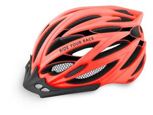 R2 helma ARROW neon červená/černá matná