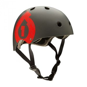 SixSixOne helma DIRT LID matte grey/red