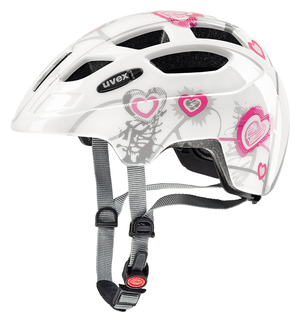 Uvex helma FINALE JUNIOR heart white pink