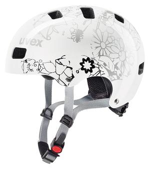 Uvex helma KID 3 white flower