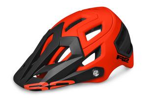 R2 helma TRAIL neon červená/černá matná