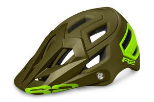 R2 helma TRAIL zelená/neon žlutá matná