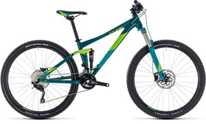 Cube horské kolo STING WS 120 turkisblue green