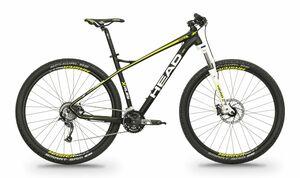 Head horské kolo X-RUBI I černá matná / žlutá