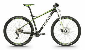 Head horské kolo X-RUBI II černá matná / zelená