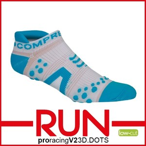 Compressport Kompresní ponožky Pro Racing RUN V2 low w/b