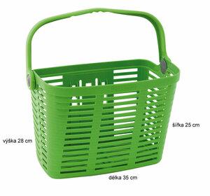 Belleli košík plast na řídítka, zelený