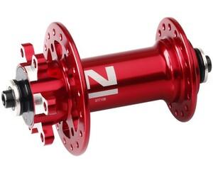 Novatec náboj D771SB + redukce 15 mm, přední 32 děrový, červený