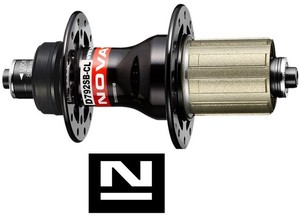 Novatec náboj D792SB-CL-11S, zadní, černý (N-logo)