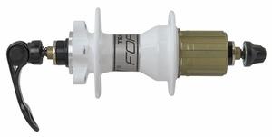 Force náboj zadní TEAM pro 6 děrový kotouč, 32 děr, bílý