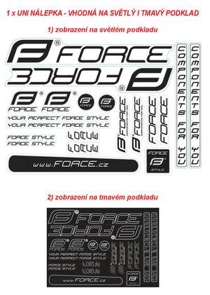 Force nálepky 4 MTB na rám, 37x27cm, UV lak