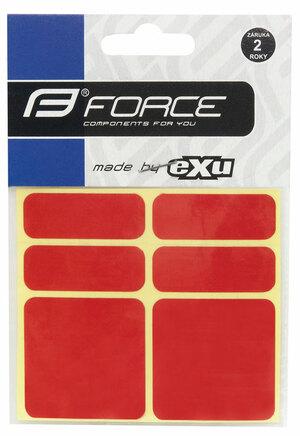 Force nálepky reflexní 6ks 3M červené