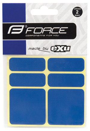 Force nálepky reflexní 6ks 3M modré