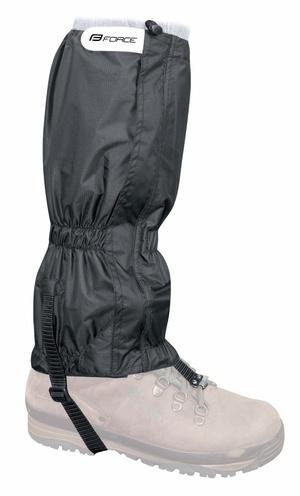 Force návleky na boty SKI RIPSTOP, černé