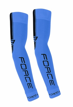 Force návleky na ruce pletené, modré