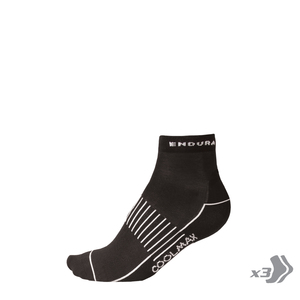 Endura ponožky COOLMAX RACE II socks black 3x