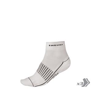 Endura ponožky COOLMAX RACE II socks white 3x