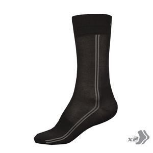Endura ponožky dlouhé COOLMAX LONG socks 2x black