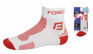 Force ponožky FORCE1 bílo-červené