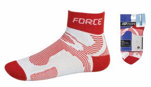 Force ponožky FORCE2 bílo-červené