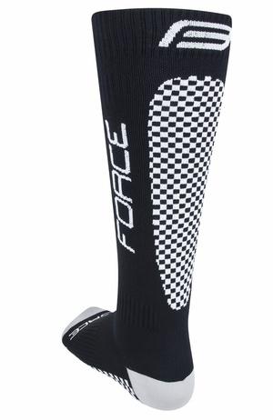 Force ponožky kompresní TESSERA, černé