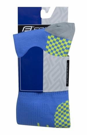 Force ponožky kompresní TESSERA WIDE, širší modré