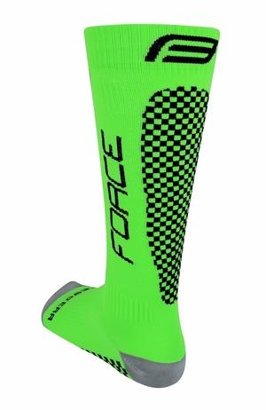 Force ponožky kompresní TESSERA WIDE, širší zelené