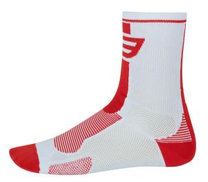 Force ponožky LONG, bílo-červené