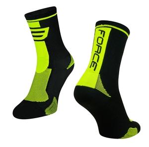 Force ponožky LONG, černo-fluo