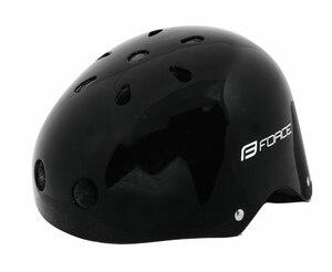 Force přilba BMX černá-lesk