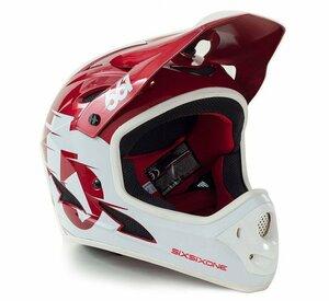 SixSixOne přilba Comp II red/white