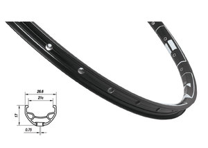 Mach1 ráfek MACH1 KARMA DISC 559 x 21, 32 děr, černý