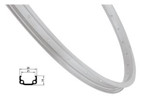 Remerx ráfek REMERX RMX21 203x21 16děr, stříbrný