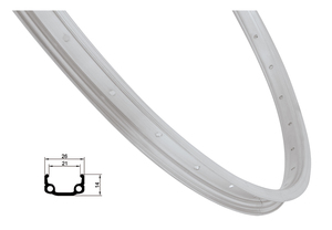 Remerx ráfek REMERX RMX21 590x21 36děr, stříbrný