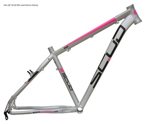 Scud rám 28 9SC ocel-černo-růžový