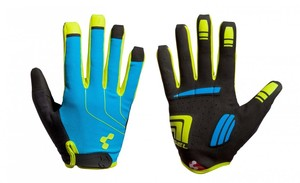 Cube Rukavice CUBE Natural Fit LTD longfinger blue/lime