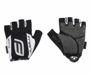 Force rukavice DARTS 17 gel, bez zapínání, černo-bílé