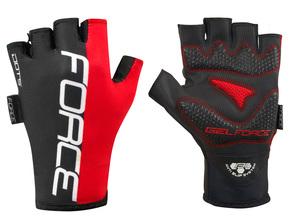 Force rukavice DOTS červeno černé
